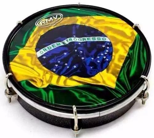 Tamborim Percussão Rmv Brasil Pele Sintética 6 Diametro