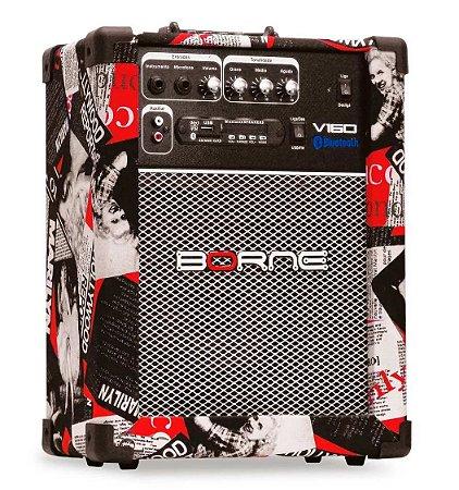 Caixa Borne Multimídia V160 Com Bluetooth Usb Sd Controle Design Hollywood