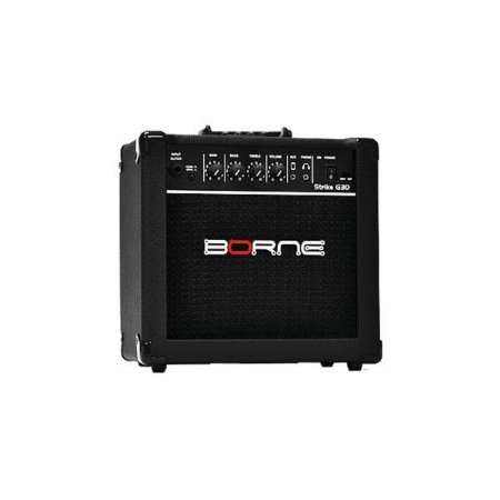 Amplificador Para Guitarra Ideal Para Estudo Borne Strike G30 Preto 15W