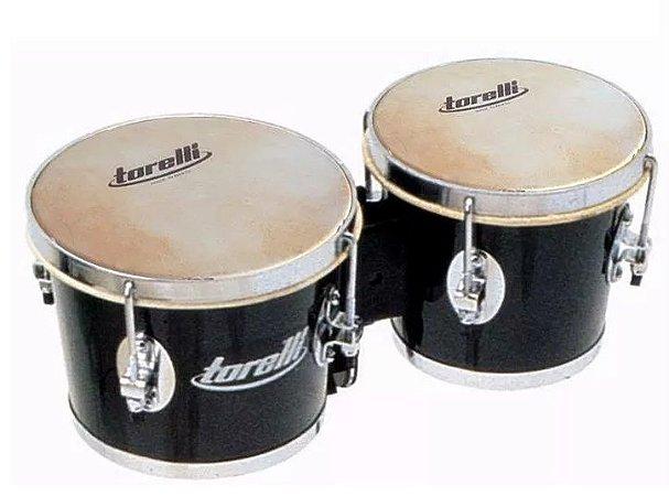 Bongô Torelli Preto 6 X7 Madeira Com Fórmica Tb010