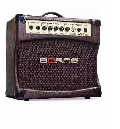 Amplificador Cubo Borne Infinit Para Violão Cv80 Marrom