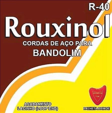 Encordoamento Para Bandolim Aço Rouxinol R-40 Brinde Palheta