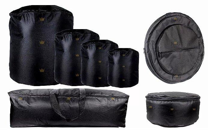 Kit Jogo Capa Bag Bateria 7 Peças Extra Luxo Estofado