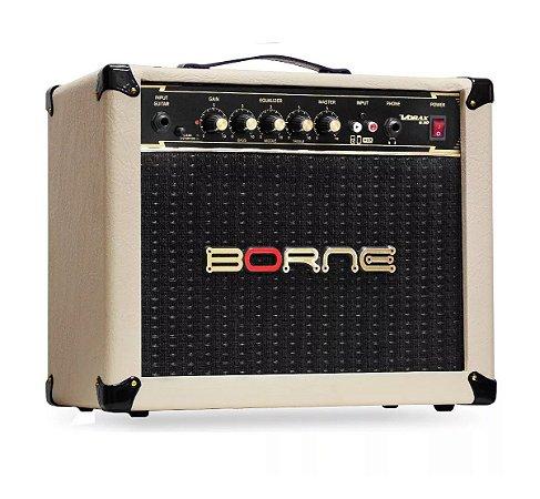 Amplificador Cubo Borne Guitarra Vorax 630 Creme 25w Rms