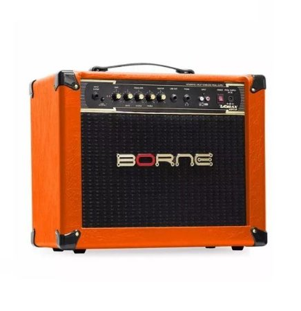 Amplificador Para Guitarra Borne Vorax 1050 50w Rms Laranja