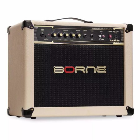 Amplificador Borne Vorax 1050 50w Creme + Fonte 5 Pedais