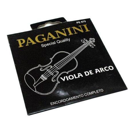 Encordoamento Completo Para Viola De Arco Paganini Pe970