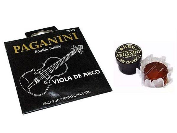 Encordoamento Para Viola De Arco Paganini + Breu Paganini