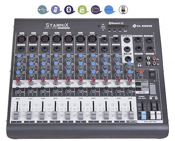 Mesa De Som 10 Canais Ll Bluetooth Gravador Usb Xms1002