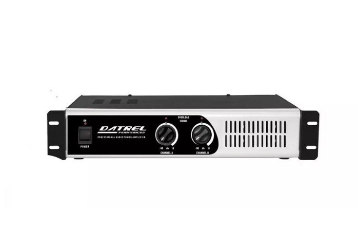 "Amplificador De Potencia Datrel Profissional 400w Rms PA3000 Total 4 OHMS P/4 AF 12"" 100 WATTS"