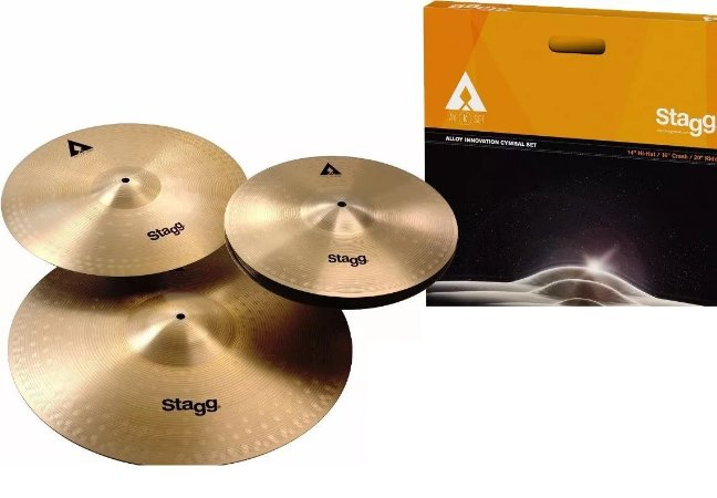 Kit Set Pratos Stagg Axk Hi-hat 13'/crash 16 / 20