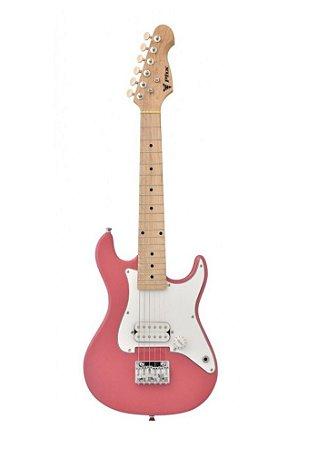 Guitarra Stratocaster Phoenix Infantil JR Rosa Claro JRIST-H