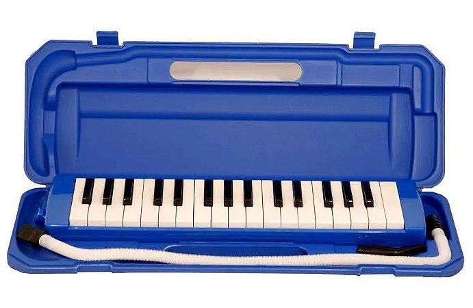 Escaleta Profissional Dolphin 32 Teclas Com Case Azul
