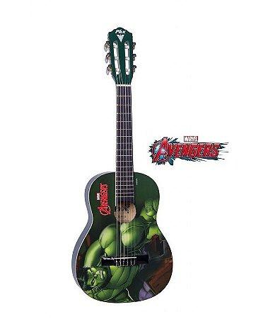 Violão Infantil Hulk Marvel Avengers Nylon PHX