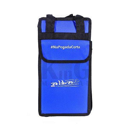 Bag Porta Baquetas Luxo Alba Estojo Alça Semi Case Baterista