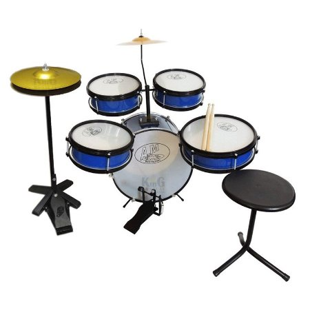 Bateria Infantil Rock Baby 2 Tons Profissional Com Chimbal