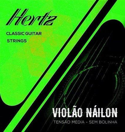 Encordoamento Para Violão Nylon Nailon Hertz Tensão Média