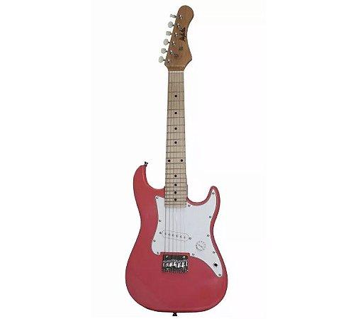 Guitarra Infantil Junior StratoCaster Dolphin Rosa DGK