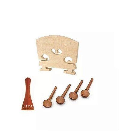 Kit Acessórios Para Violino Cravelha 4/4 Cavalete Estandart