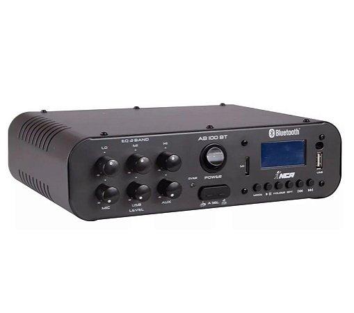 Amplificador de Potência Audio 70W LL Audio AB100BT Compacto
