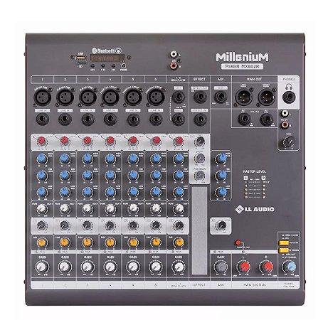 Mesa de Som Mixer 8 Canais Phantom Power MX802R LL Audio