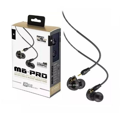 Fone de Ouvido Retorno Monitor Mee Audio M6 Pro Com Estojo