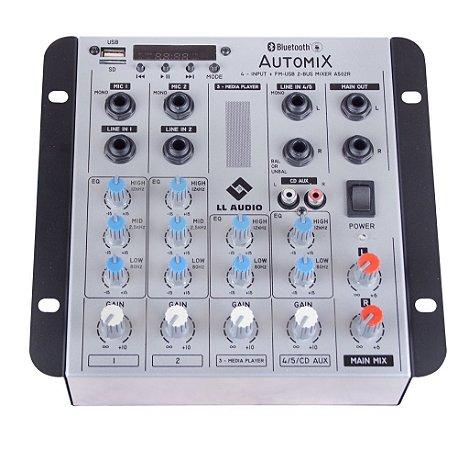 Mesa de Som Mixer LL Audio Carro Auto A502RBT Bluetooth