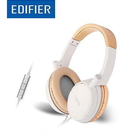 Fone de Ouvido Profissional Edifier P841 Branco Dourado