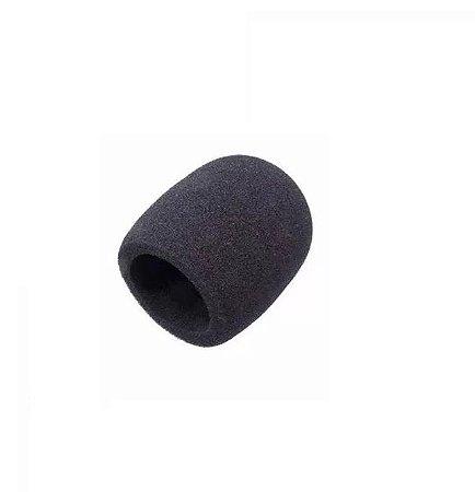 Espuma Para Proteção de Microfone Preto Zad Som