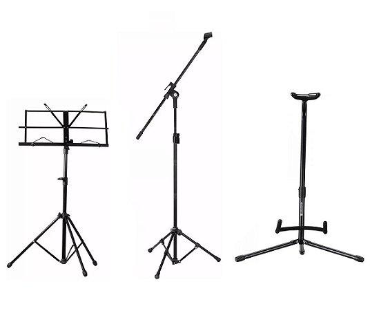 Estante P/ Partitura Suporte Violão Pedestal Microfone ASK