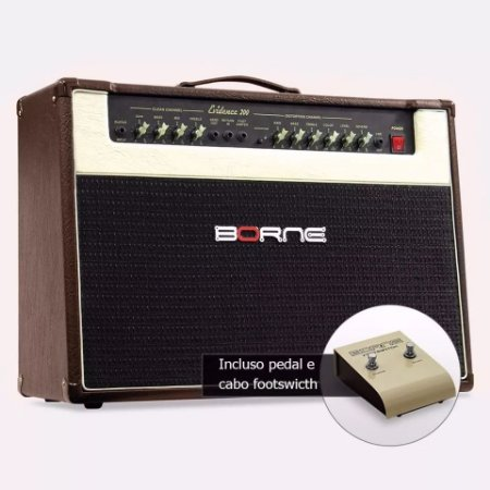Amplificador Cubo Guitarra Borne Evidence 200 Marrom 150w Rm