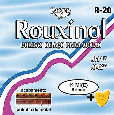 Encordoamento Cordas Violão Aço Rouxinol 011 10 Un Atacado