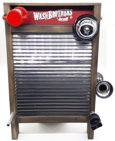 Washboard Torelli  Aço Inox Percussão TWB39 Grande Aluzinco