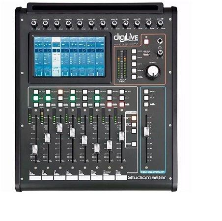 Mixer Mesa de Som Digital Digilive 16 Canais Console Efeitos