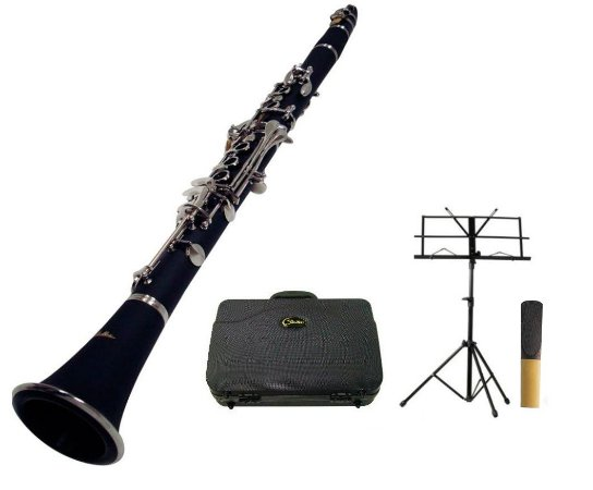Kit Clarinete Shelter 17 Chaves NQ Bb Case Estojo Partitura