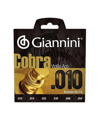 Encordoamento Violão Caixa 12 Cordas Giannini Aço 010 Atacado