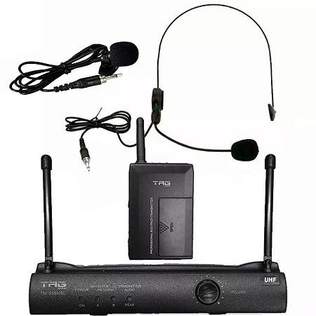 Microfone Sistema Sem Fio Headset Lapela Tag Sound TM559HSL