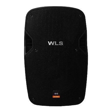 Caixa Acústica Ativa WLS S12 Bluetooth FM USB SD Card 250w