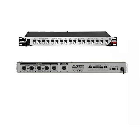 Crossover Parametrico de 5 Vias de Audio Datrel Mono C-510
