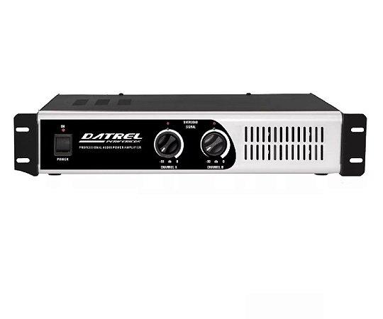 Amplificador Potencia Datrel Profissional PA1800 400W 4 OHMS