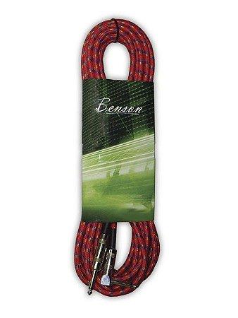 Cabo Para Guitarra Violão Benson P10 6 Metros Vermelho