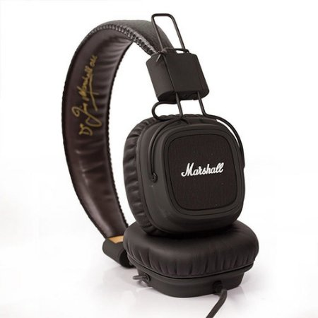 Fone de Ouvido Headphone Marshall Major Black Preto