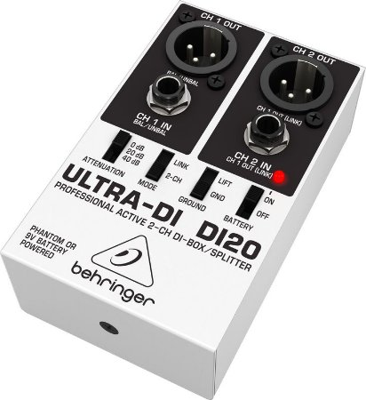 Direct Box Ativo Behringer 2 Canais Ultra DI20