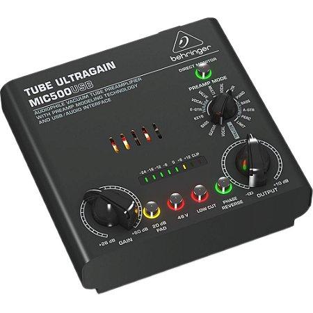 Pré-Amplificador Behringer  MIC-500USB Com USB Ultra Ganho