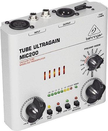 Pré Amplificador Behringer MIC-200  Ultra Ganho Valvulado