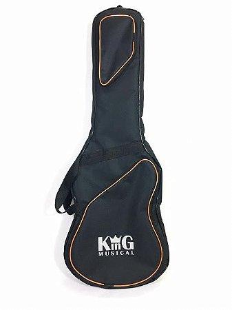 Capa Para Guitarra King Musical Extra Luxo Preta