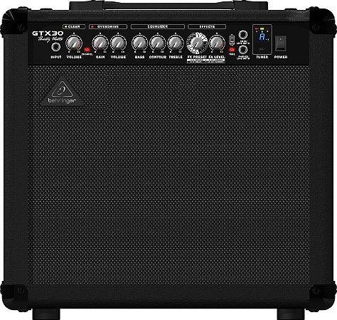 Amplificador Para Guitarra Behringer GTX30 110V  Preto