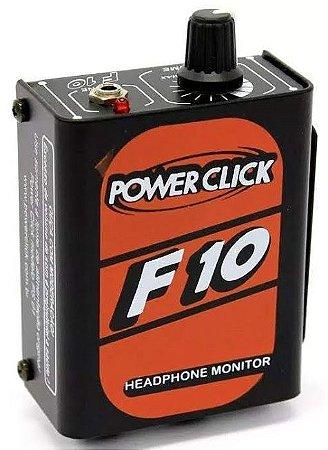 Amplificador de Fones Power Click F10 Headphone Monitor