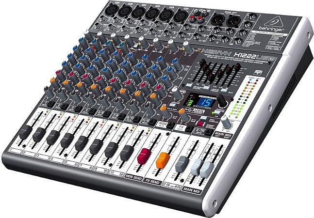 Mesa De Som Behringer  X1222USB Mixer Xenyx  12 Canais
