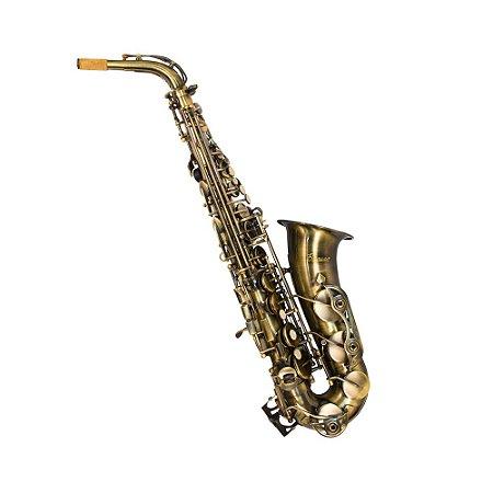 Saxofone Alto Benson BSAC-1V Envelhecido Eb Com Case